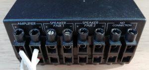 Headphone and Speaker splitter rear view