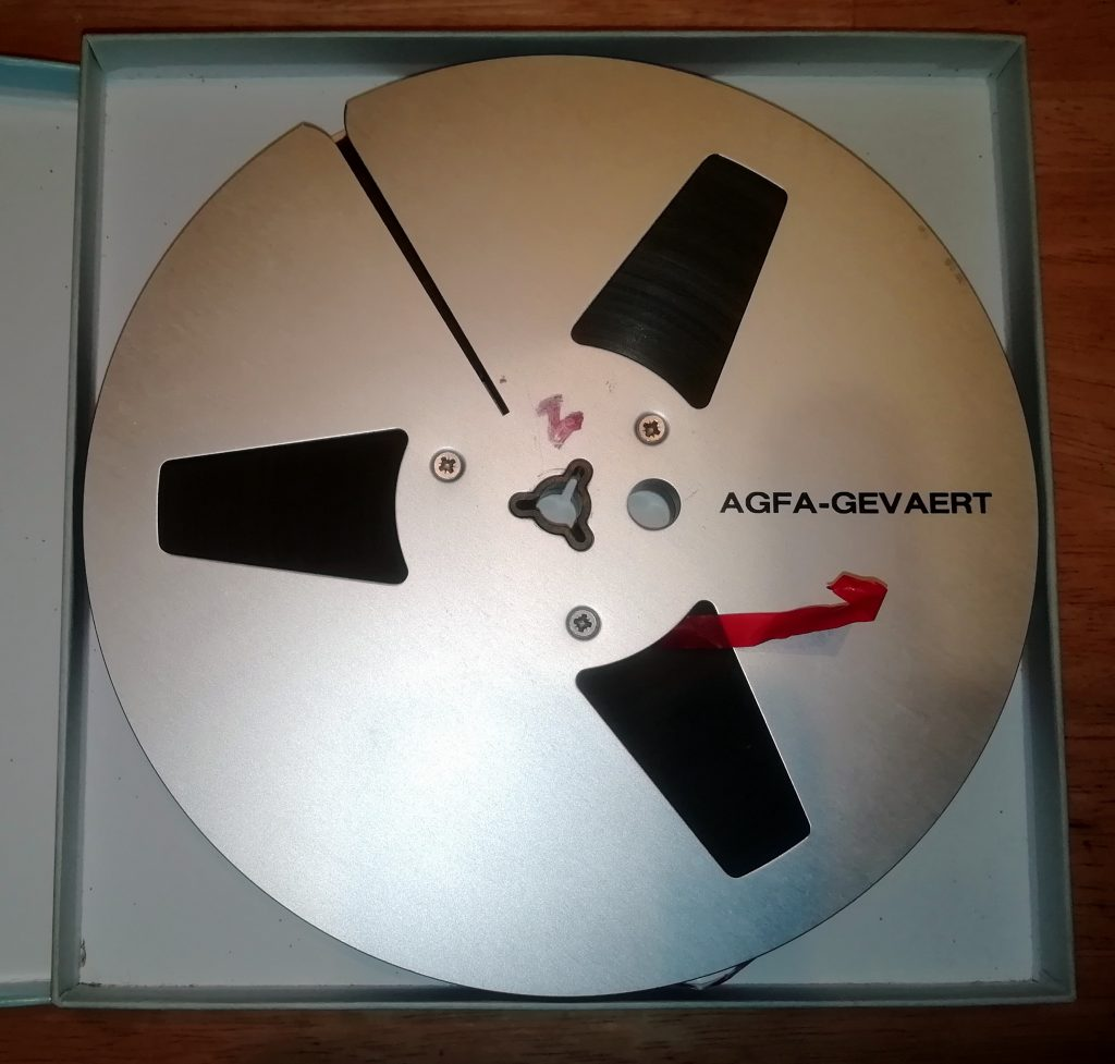 Agfa reel with tape