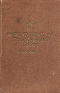 Garard 301 manual
