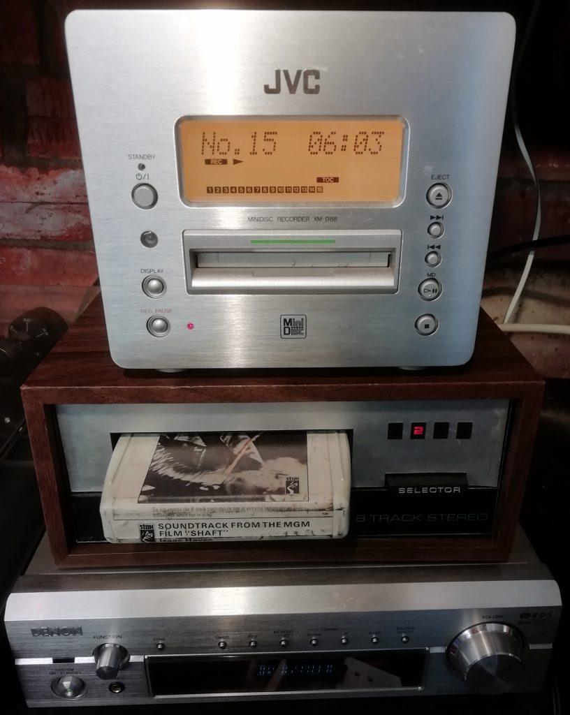 JVC-XM-D88 MiniDisc and 8 Track