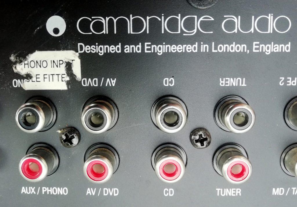 Cambridge A5. The curious label