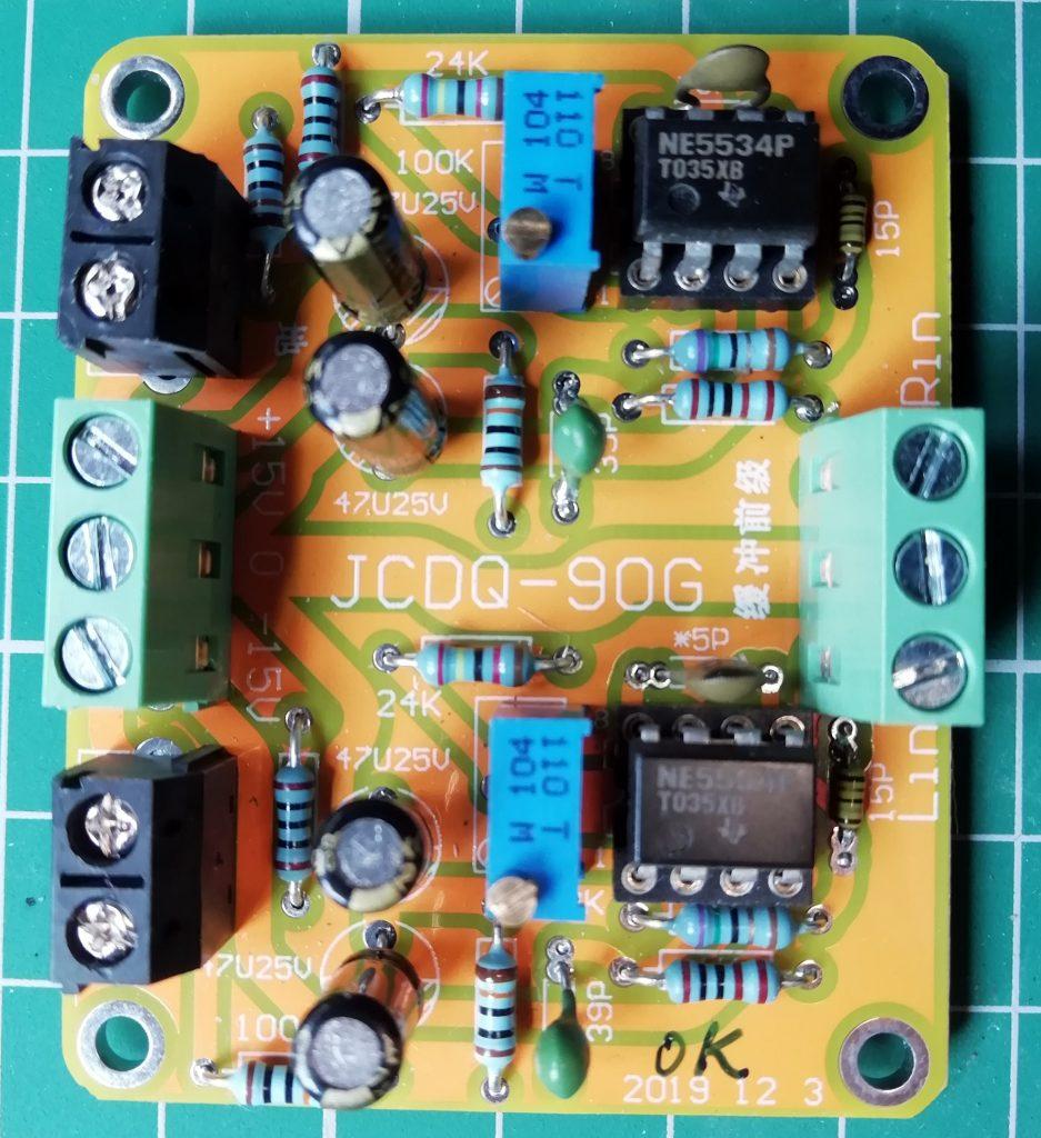 NE5534 amplifier board