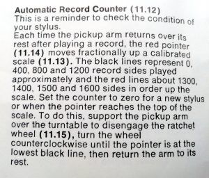 Record Counter Instructions